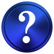 Question mark icon — Stock Photo #34978511