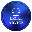 Legal advice icon — Stockfoto #34978791