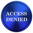 Access denied icon — 图库照片 #34979147
