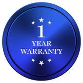 1 year warranty icon — Stock Photo