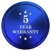 5 year warranty icon — Stock Photo