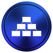 Organizational chart icon — Stock Photo