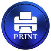 Stampante con icona di stampa word — Foto Stock