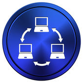Computer network icon — Stock Photo