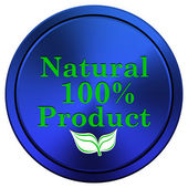 100 percent natural product icon — Stock Photo