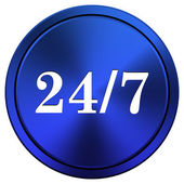 24 7 icon — Stock Photo