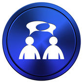 Comments icon - men with bubbles — Stock Photo