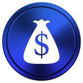 Dollar sack icon — Stock Photo