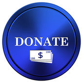 Donate icon — Foto de Stock