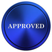 Approved icon — Stockfoto