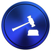 Judge hammer icon — Stockfoto