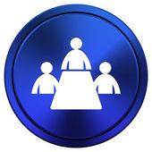 Meeting room icon — Stock Photo