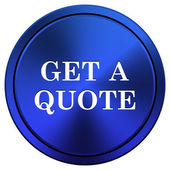 Get a quote icon — Stock Photo