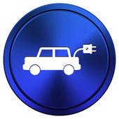 ícone de carro elétrico — Fotografia Stock