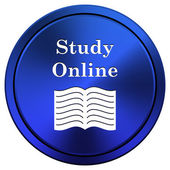 Studera online-ikon — Stockfoto