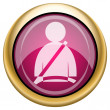 Safety belt icon — 图库照片