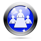 Meeting room icon — Stock fotografie