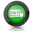 24 7 delivery truck icon — Foto de Stock