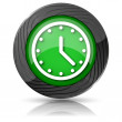Clock icon — Stockfoto #35405581