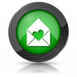 Send love icon — Stock Photo #35405745