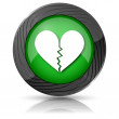 Broken heart icon — Stock Photo #35406443