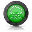 Cloud computing icon — Stock fotografie