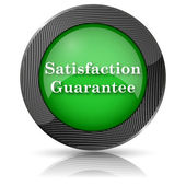Satisfaction guarantee icon — Stock Photo