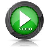 Video play icon — Foto de Stock