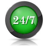 24 7 ikona — Zdjęcie stockowe