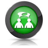 ícone de comentários - homens com bolhas — Foto Stock