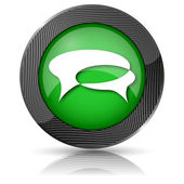 Chat bubbles icon — Stock Photo