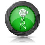 Classic windmill icon — Stock Photo