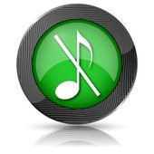 Musical note - no sound icon — Foto de Stock