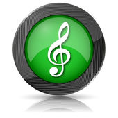 Musical note icon — Stock Photo
