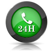 24H phone icon — Stock Photo