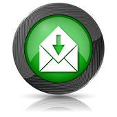 Receive e-mail icon — Foto de Stock