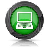 Icono del ordenador portátil — Foto de Stock