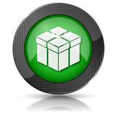 Geschenk pictogram — Stockfoto