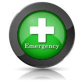 Emergency icon — Stock Photo