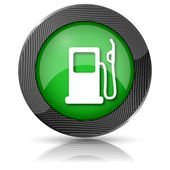 Gas pump icon — Stock Photo