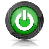 Power button icon — Stock Photo