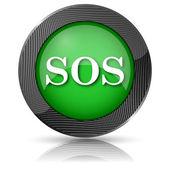 SOS icon — Stock Photo