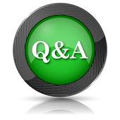 Q&A icon — 图库照片