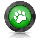 Paw print icon — Stock Photo