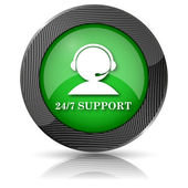 24-7 Support icon — Stock Photo