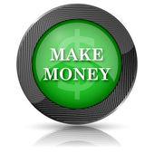 Make money icon — Stock Photo