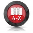 A-Z book icon — Stock Photo #35474425