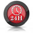 24H clock icon — Stock Photo #35474503
