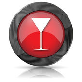 Martini glas pictogram — Stockfoto