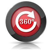 Herladen 360 pictogram — Stockfoto